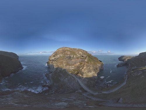 Tintagel Castle Aerial 360